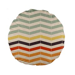 Abstract Vintage Lines Standard 15  Premium Round Cushions