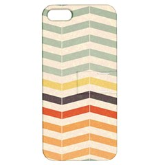 Abstract Vintage Lines Apple iPhone 5 Hardshell Case with Stand