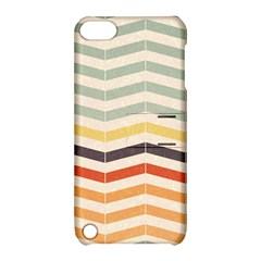 Abstract Vintage Lines Apple iPod Touch 5 Hardshell Case with Stand