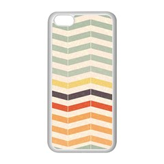 Abstract Vintage Lines Apple iPhone 5C Seamless Case (White)