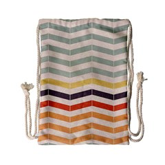 Abstract Vintage Lines Drawstring Bag (small)