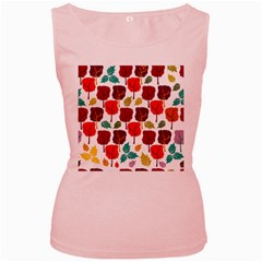 Colorful Trees Background Pattern Women s Pink Tank Top