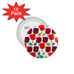 Colorful Trees Background Pattern 1.75  Buttons (10 pack)