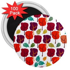 Colorful Trees Background Pattern 3  Magnets (100 Pack)