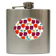 Colorful Trees Background Pattern Hip Flask (6 Oz)