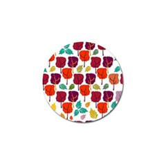 Colorful Trees Background Pattern Golf Ball Marker (4 Pack)