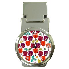 Colorful Trees Background Pattern Money Clip Watches