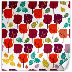 Colorful Trees Background Pattern Canvas 12  X 12
