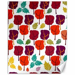 Colorful Trees Background Pattern Canvas 16  X 20