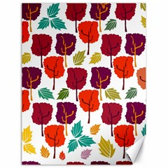 Colorful Trees Background Pattern Canvas 18  X 24