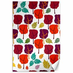 Colorful Trees Background Pattern Canvas 20  X 30