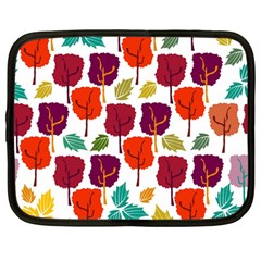 Colorful Trees Background Pattern Netbook Case (large)