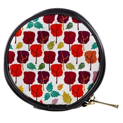 Colorful Trees Background Pattern Mini Makeup Bags