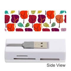 Colorful Trees Background Pattern Memory Card Reader (stick)