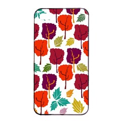 Colorful Trees Background Pattern Apple iPhone 4/4s Seamless Case (Black)