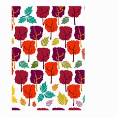 Colorful Trees Background Pattern Large Garden Flag (Two Sides)