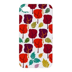 Colorful Trees Background Pattern Apple iPhone 4/4S Premium Hardshell Case