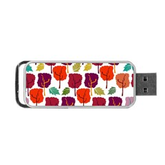 Colorful Trees Background Pattern Portable Usb Flash (one Side)