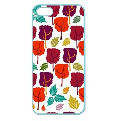 Colorful Trees Background Pattern Apple Seamless iPhone 5 Case (Color)