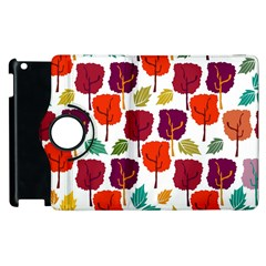 Colorful Trees Background Pattern Apple iPad 3/4 Flip 360 Case