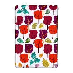 Colorful Trees Background Pattern Apple iPad Mini Hardshell Case (Compatible with Smart Cover)