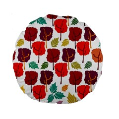 Colorful Trees Background Pattern Standard 15  Premium Round Cushions