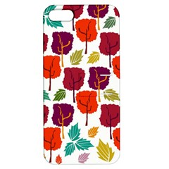 Colorful Trees Background Pattern Apple Iphone 5 Hardshell Case With Stand