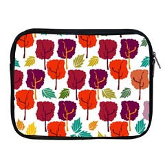 Colorful Trees Background Pattern Apple iPad 2/3/4 Zipper Cases