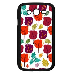 Colorful Trees Background Pattern Samsung Galaxy Grand DUOS I9082 Case (Black)
