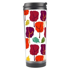 Colorful Trees Background Pattern Travel Tumbler