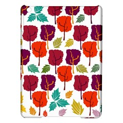 Colorful Trees Background Pattern iPad Air Hardshell Cases