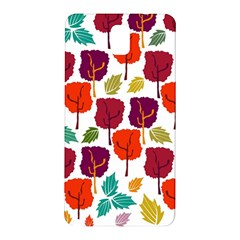 Colorful Trees Background Pattern Samsung Galaxy Note 3 N9005 Hardshell Back Case