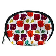 Colorful Trees Background Pattern Accessory Pouches (medium)