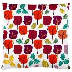 Colorful Trees Background Pattern Large Flano Cushion Case (one Side)