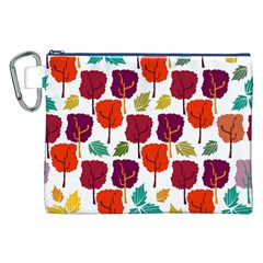 Colorful Trees Background Pattern Canvas Cosmetic Bag (XXL)