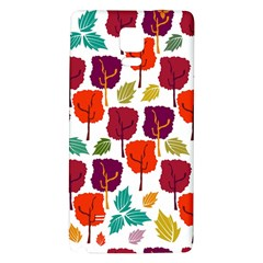 Colorful Trees Background Pattern Galaxy Note 4 Back Case