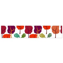 Colorful Trees Background Pattern Flano Scarf (small)