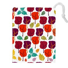 Colorful Trees Background Pattern Drawstring Pouches (xxl)