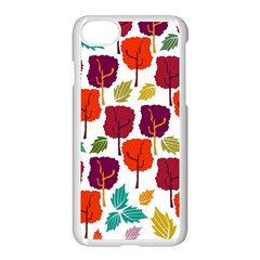 Colorful Trees Background Pattern Apple Iphone 7 Seamless Case (white)