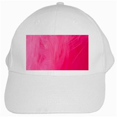 Very Pink Feather White Cap