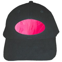 Very Pink Feather Black Cap