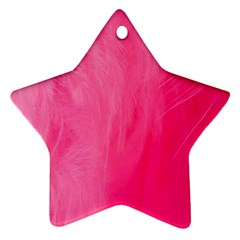 Very Pink Feather Ornament (Star)