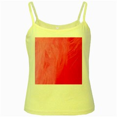 Very Pink Feather Yellow Spaghetti Tank
