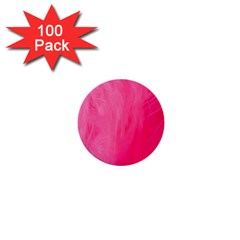 Very Pink Feather 1  Mini Buttons (100 Pack)