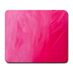 Very Pink Feather Large Mousepads