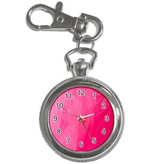 Very Pink Feather Key Chain Watches