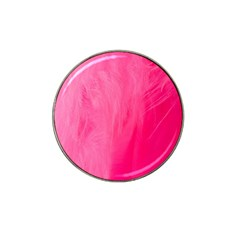 Very Pink Feather Hat Clip Ball Marker