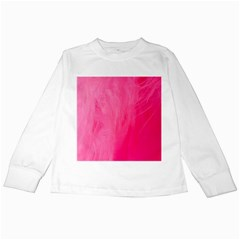 Very Pink Feather Kids Long Sleeve T Shirts