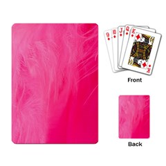 Very Pink Feather Playing Card
