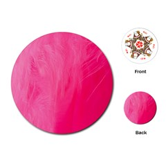 Very Pink Feather Playing Cards (round)